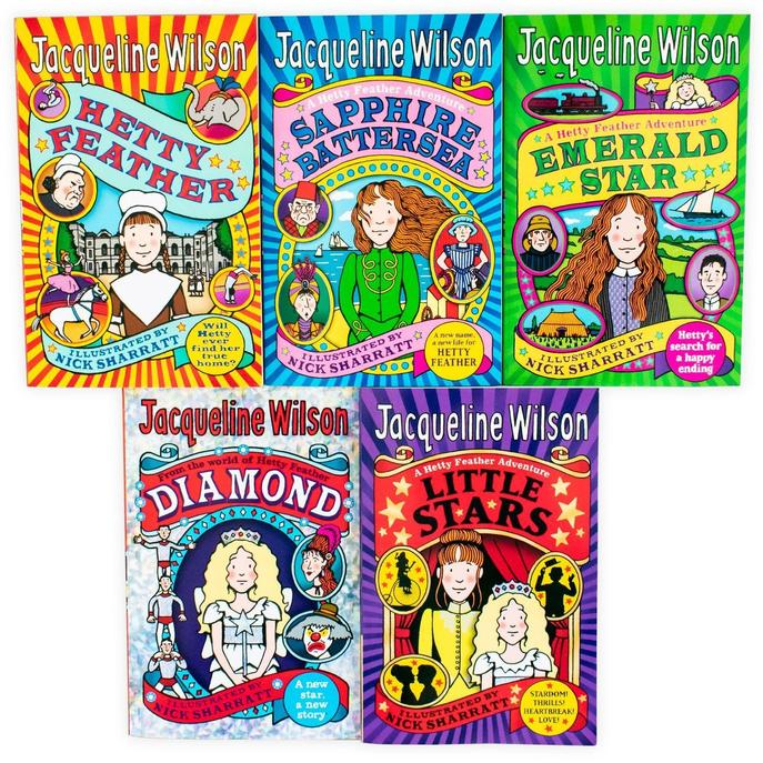 Jacqueline Wilson Hetty Feather Series Collection 5 Books Set Pack Little Stars