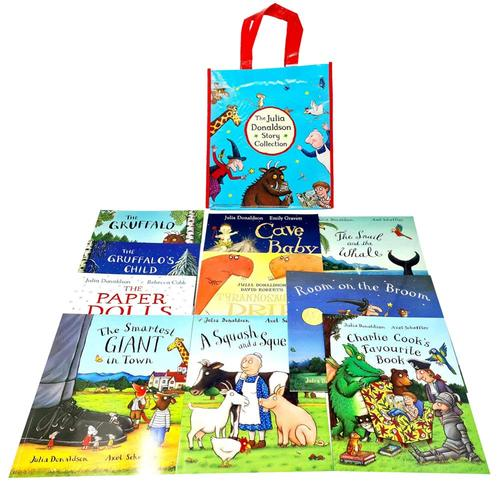The Julia Donaldson 10 Books Story Bag Collection Set Gruffalo, Gruffalo's Child