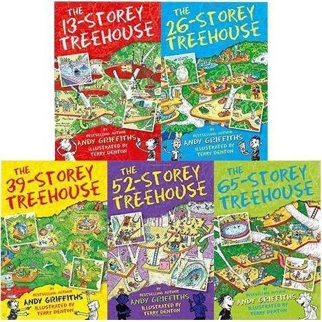 The 13 Storey Treehouse Collection 5 Books Set By Andy Griffiths & Terry Denton