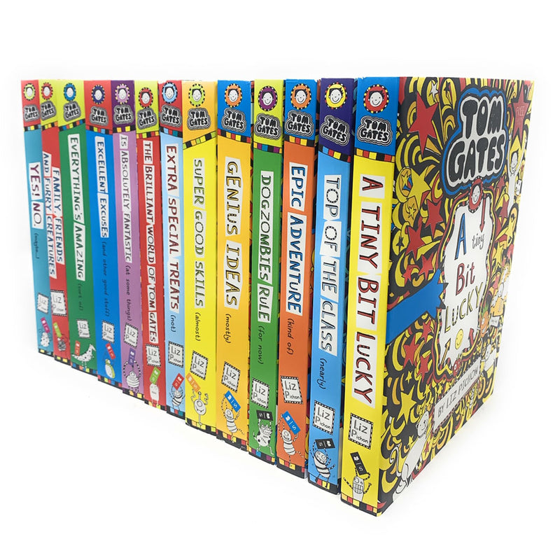 Tom Gates Liz Pichon 13 Books Collection Set Genius Ideas, Dogzombies Rule