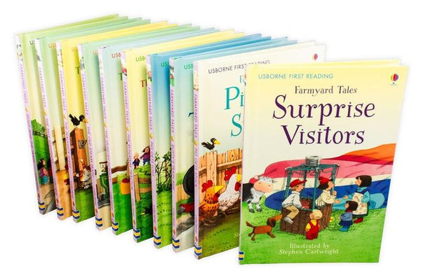 Usborne First Reading Farmyard Tales 10 Books Set Collection Dolly and the Train