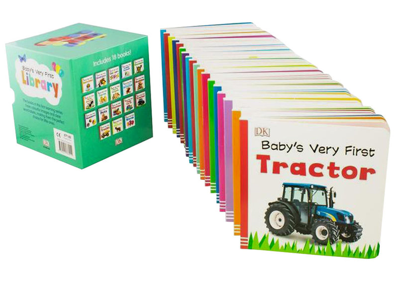 Baby's Very First Library 18 Board Books Box Set To Help Little Ones Learn