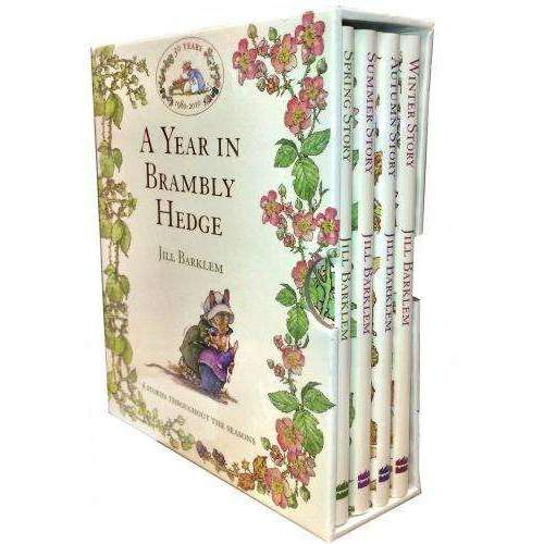 A Year in Brambly Hedge 4 Books Box Set Collection by Jill Barklem Summer Story