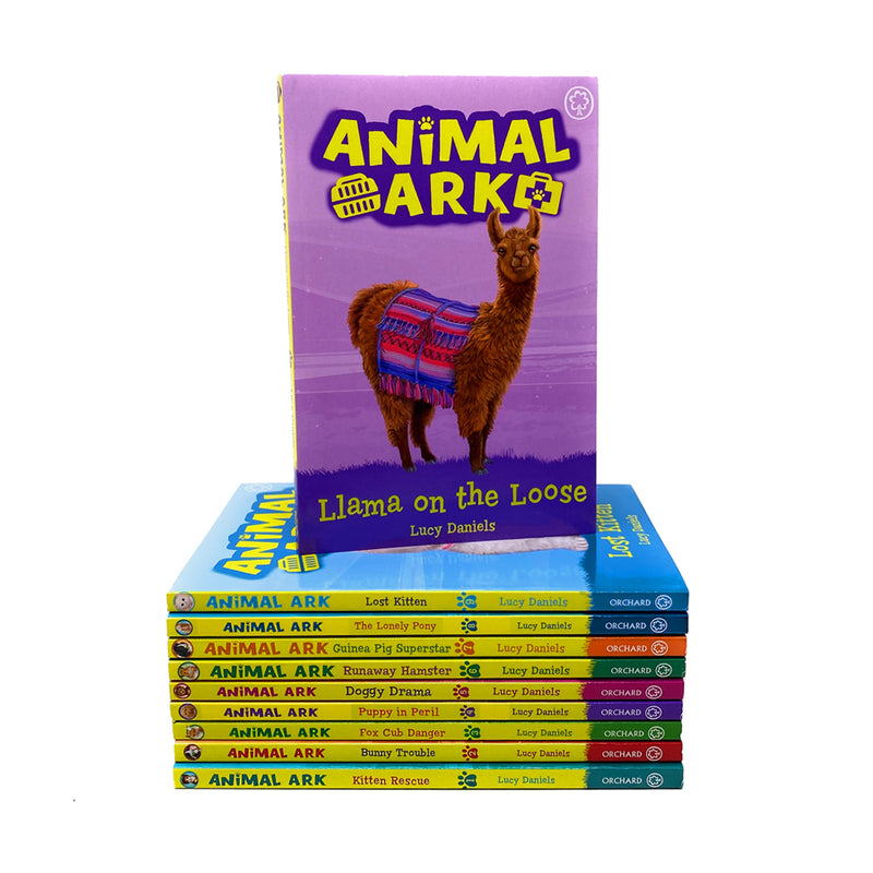 Animal Ark 10 Books Set Collection By Lucy Daniels Inc Lost Kitten, Lonely Pony