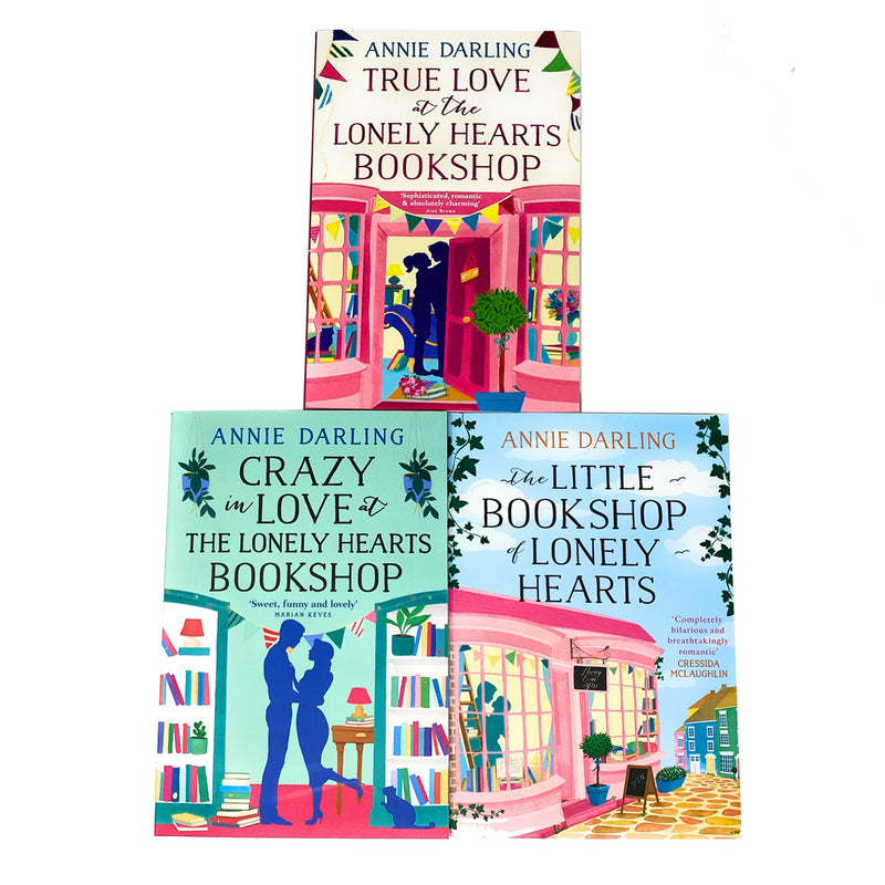 Annie Darling Lonely Hearts Bookshop Collection 3 Books Set True Love,Little Bookshop