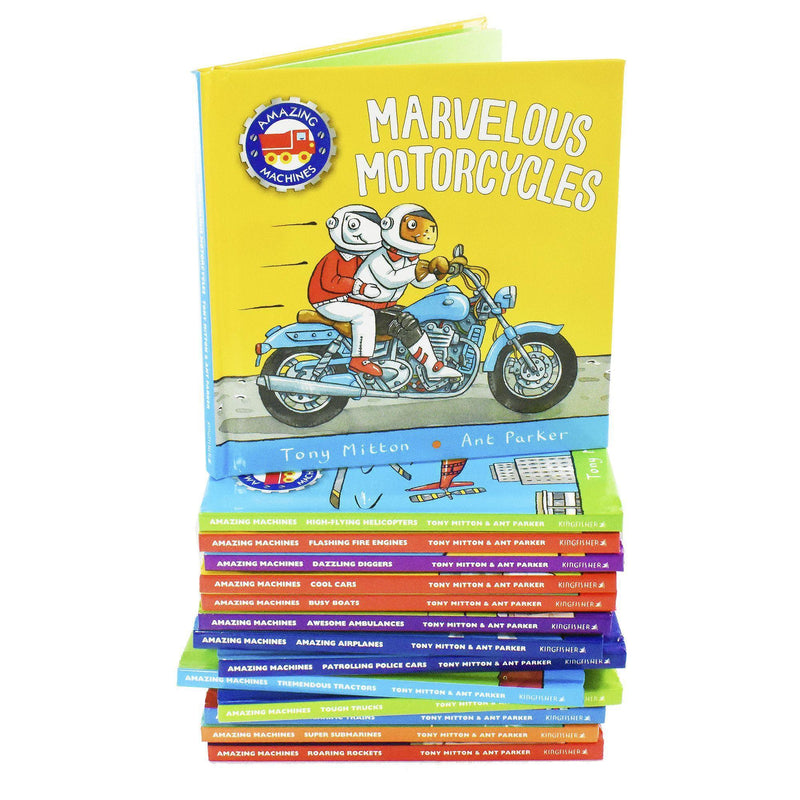 Amazing Machines Big Truckload of Fun Series 1-14 Books Box Set By Tony Mitton