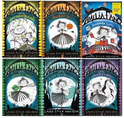 Amelia Fang Series 6 Books Collection Set By Laura Ellen Anderson Bookworm Gang