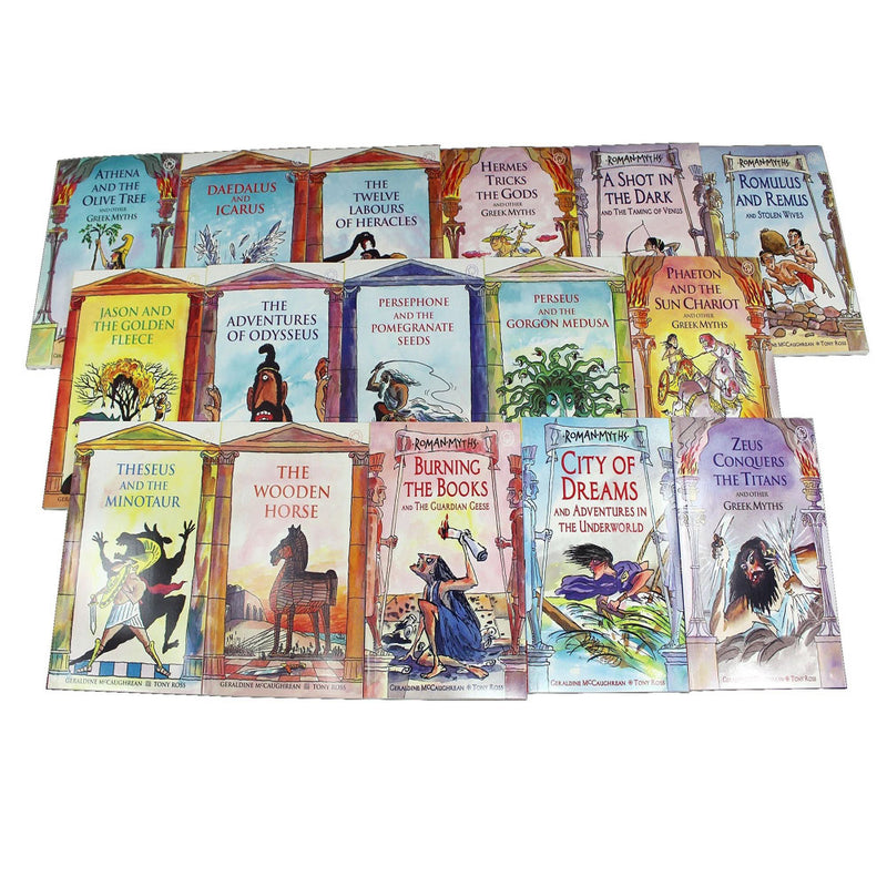 Ancient Myths 16 Books Collection Set By McCaurhrean Ross Paperback