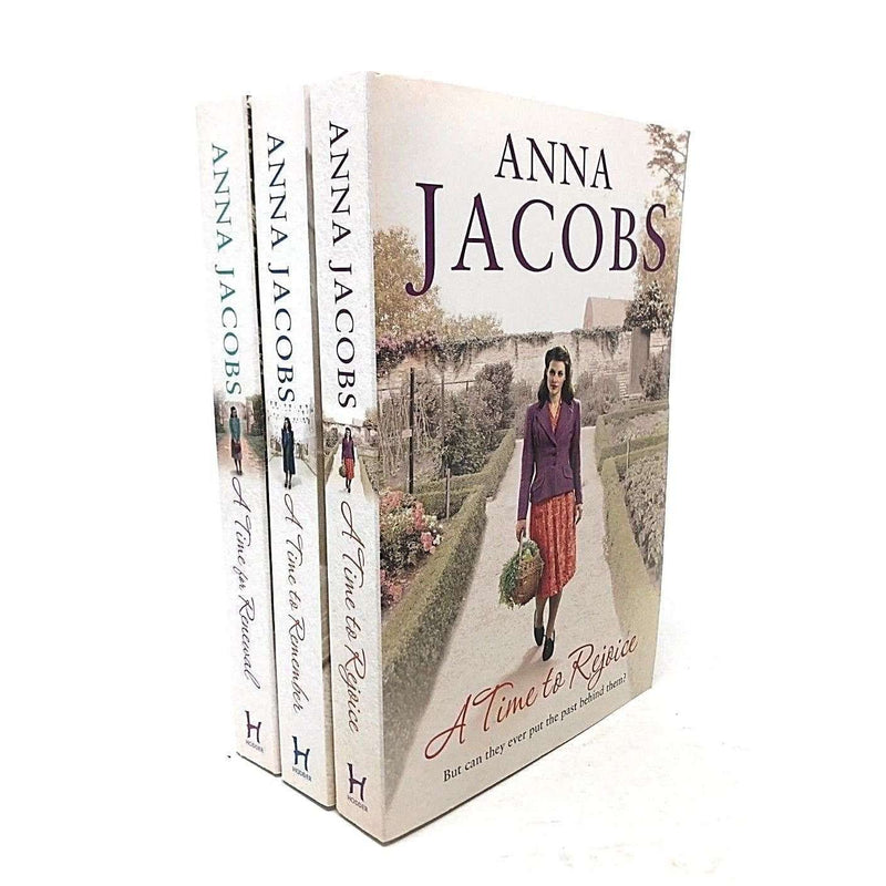 Anna Jacobs 3 Books Collection Set A Time To Rejoice, A Time To Remember