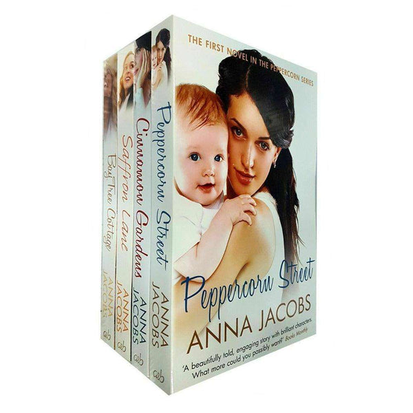 Anna Jacobs Collection Peppercorn Series 4 Books Set Saffron Lane, Cinnamon