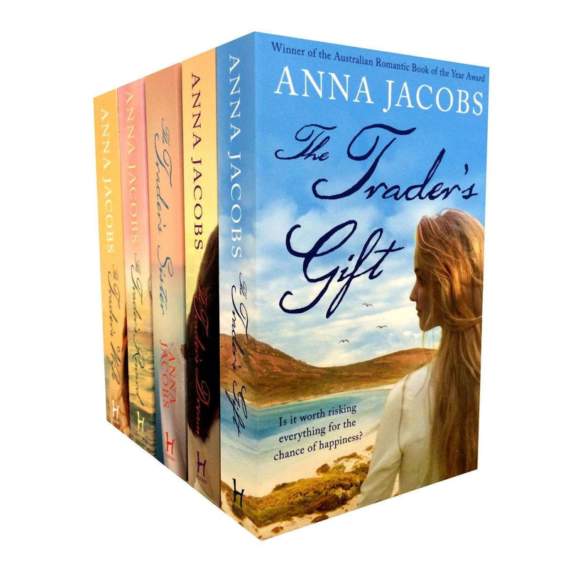 Anna Jacobs The Traders Series 5 Books Set Collection The Traders Wife
