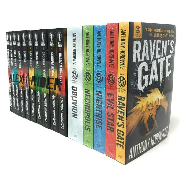 Anthony Horowitz 15 Books Collection Alex Rider & Power of Five Series Set Pack