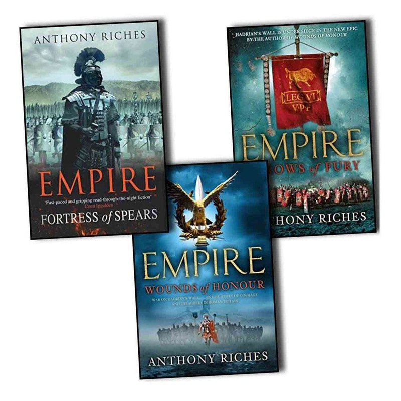 Anthony Riches Empire Collection 3 Books Set Wounds of Honour, Arrows of Fury