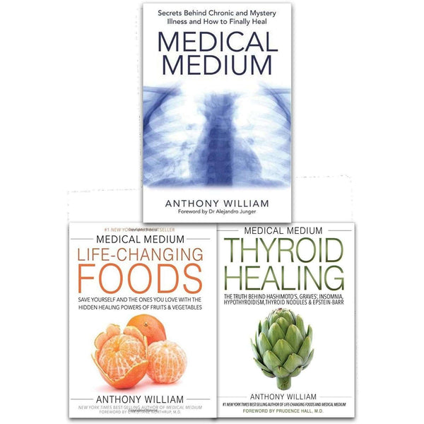 Anthony William Medical Medium Collection 3 Books Set Chronic, Illness, Healing