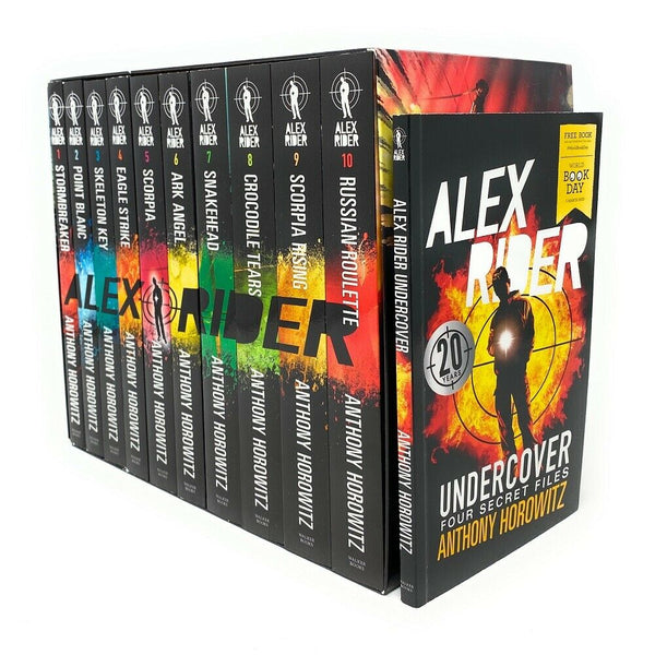 Alex Rider 11 Books Collection Set By Anthony Horowitz World Book Day Undercover