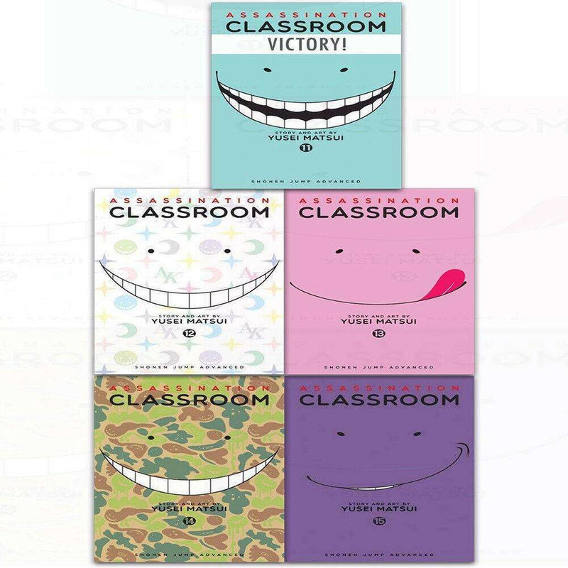 Assassination Classroom Vol 11-15 Collection 5 Books Set By Yusei Matsui