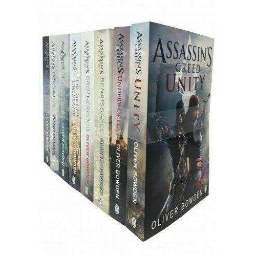 Assassins Creed 8 Books Collection Set By Oliver Bowden Inc Unity, Revelations