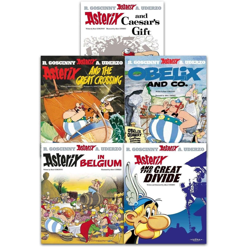 Asterix And The Great Divide Series 5 Collection 5 Books Set (21-25)
