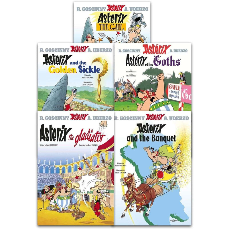 Asterix the Gaul Series 1 Collection 5 Books Set (1-5) The Gladiator, The Gaul