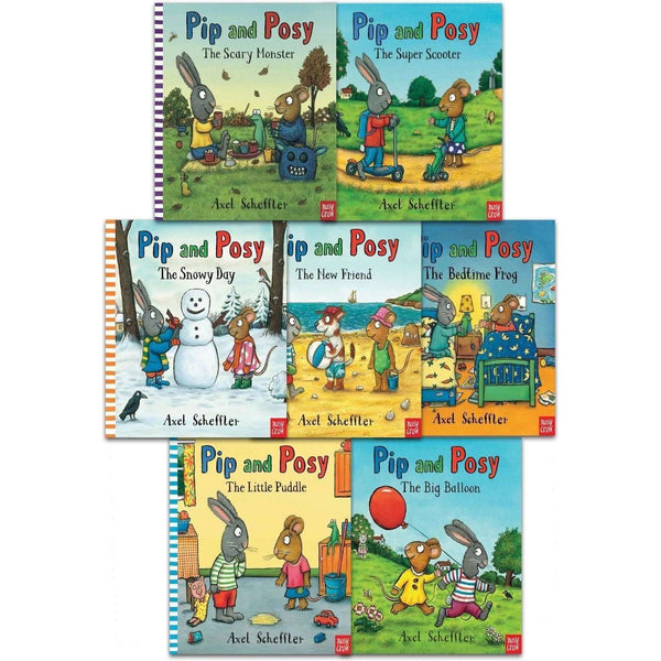 Axel Scheffler Collection Pip and Posy 7 Books Set Pack Bedtime Frog Snowy Day
