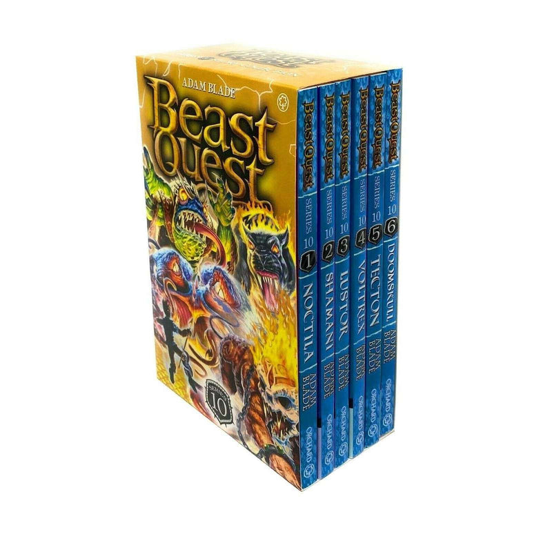 Beast Quest 6 Books (Series 10) Children Collection Box Set By Adam Blade