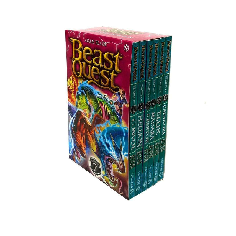 Beast Quest 6 Books (Series 7) Children Collection Box Set By Adam Blade