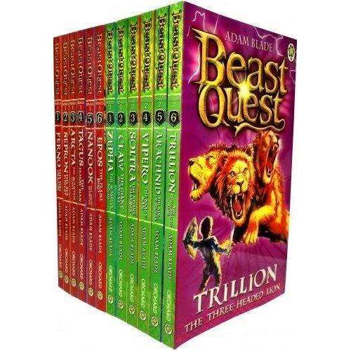 Beast Quest (Series 1 and 2) 12 Books Set Collection Adam Blade