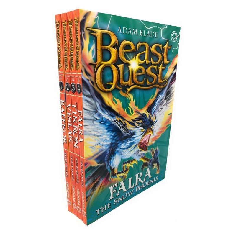Beast Quest Series 14 Adam blade 4 Books Collection Set, Falra, Tikron, Vislak