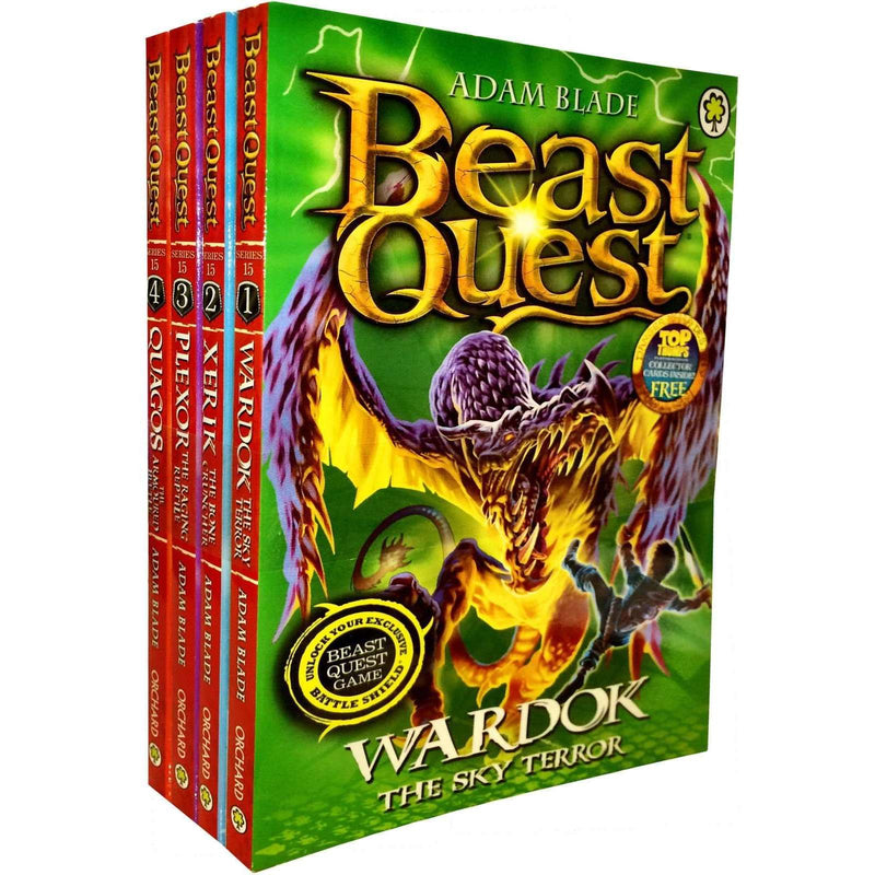 Beast Quest Series 15 Adam blade 4 Books Collection Set Wardok, Xerik, Plexor