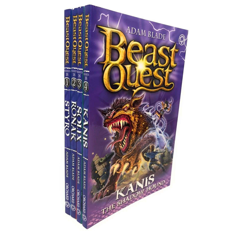 Beast Quest Series 16 Adam Blade 4 Books Collection Set, Kanis, Solix, Ronak