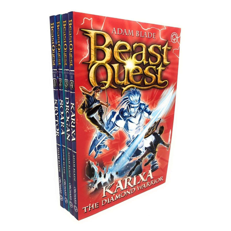 Beast Quest Series 18 Adam Blade 4 Books Collection Set, Karixa, Drogan, Soara..