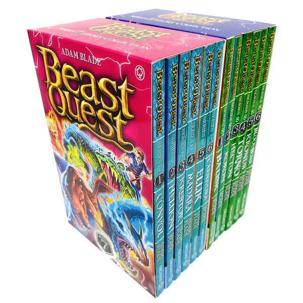 Beast Quest Series 7 & 8 Box Sets 12 Books Collection (Series 7 ,Series 8)