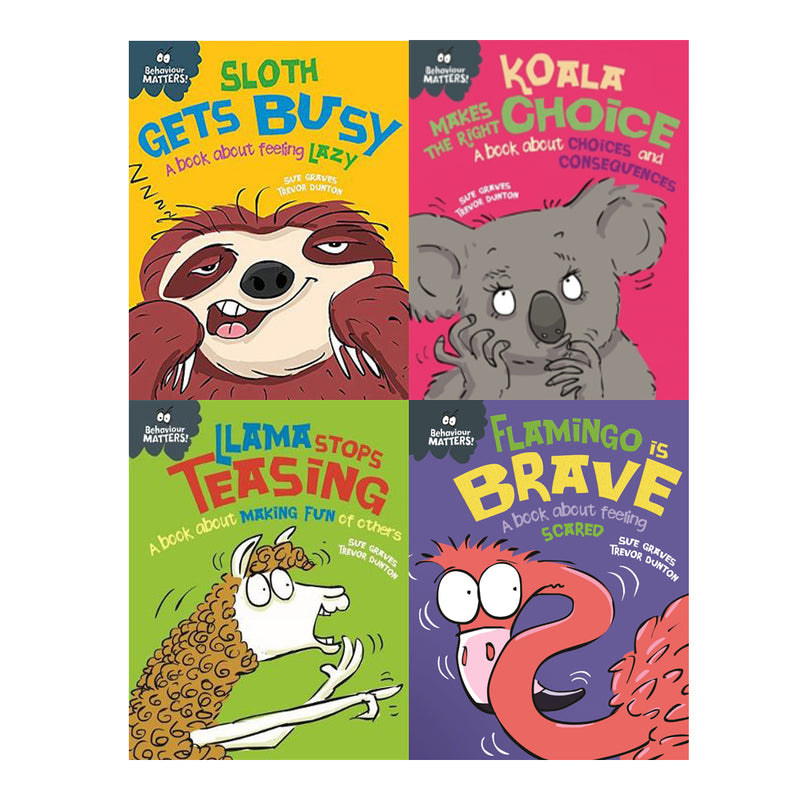 Sue Graves Behaviour Matters Collection 4 Books Set Series 3 (Llama,Sloth,Koala,