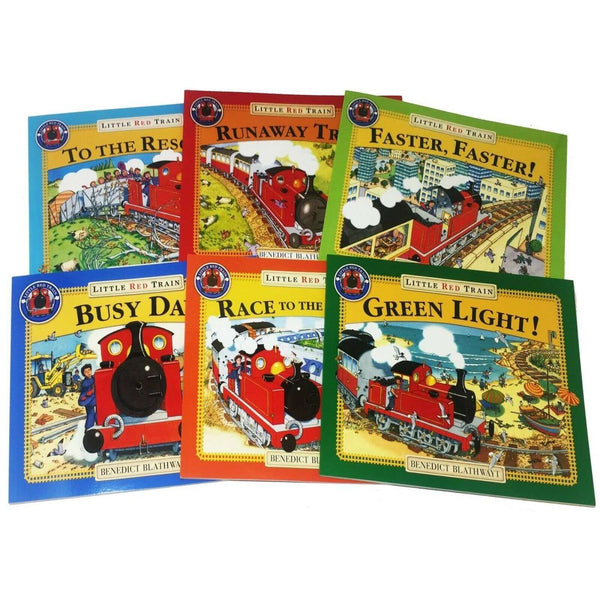 Benedict Blathwayt The Little Red Train 6 Books Collection Set Runaway Train