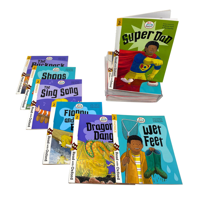 Biff, Chip and Kipper Stage 1-3 Read with Oxford: 56 Books Collection Set Pack