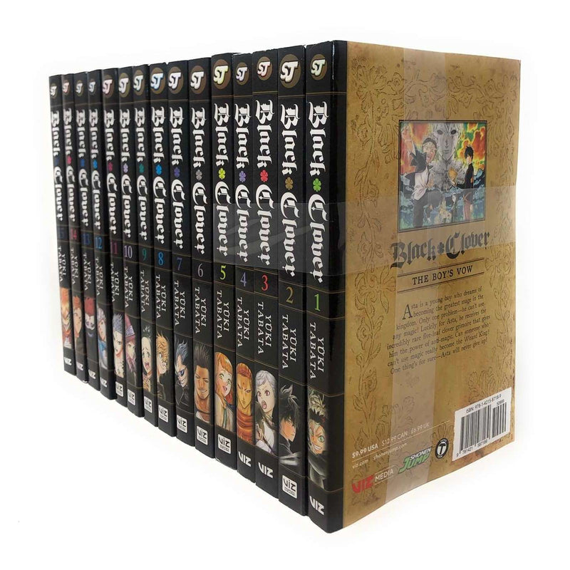 Black Clover (Series 1 To 3 ) 15 Books Set Collection Vol 1 To 15 Yuki Tabata