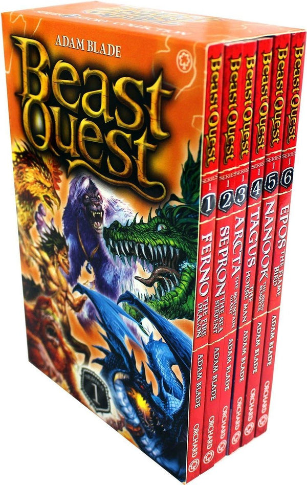 Beast Quest (Series 1) 6 Books Set Collection Adam Blade