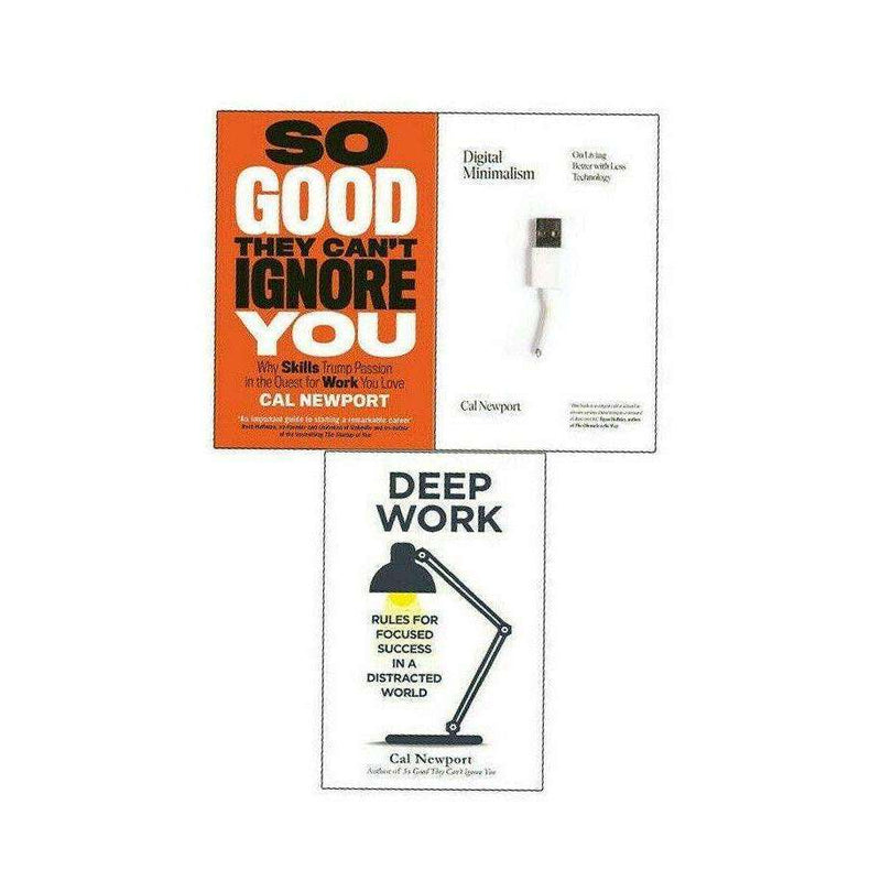 Cal Newport 3 Books Collection Set Deep Work, So Good, Digital Minimalism