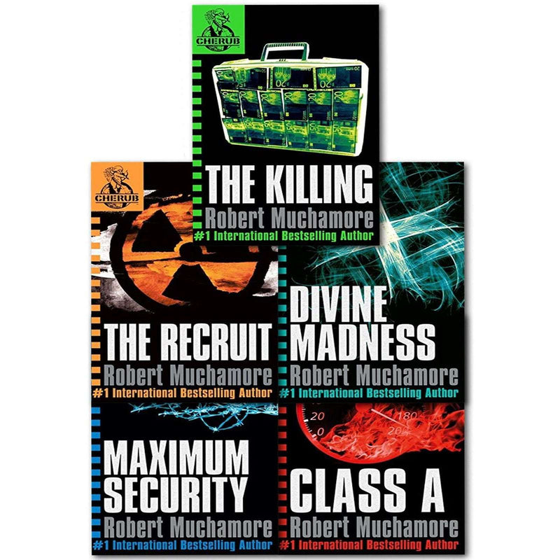 Cherub Series 1 Collection Robert Muchamore 5 Books Set The Recruit, Class A