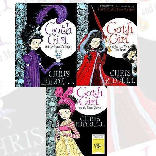 Chris Riddell 3 Books Collection Set Goth Girl and the Pirate Queen
