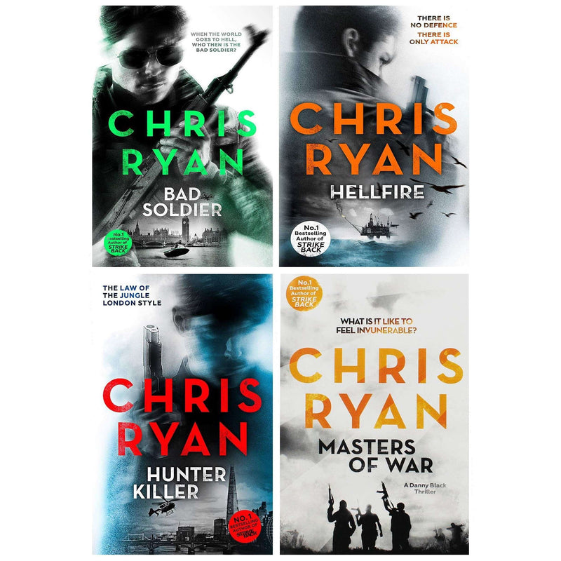 Chris Ryan Collection Danny Black Thriller 4 Books Set Inc Masters of War