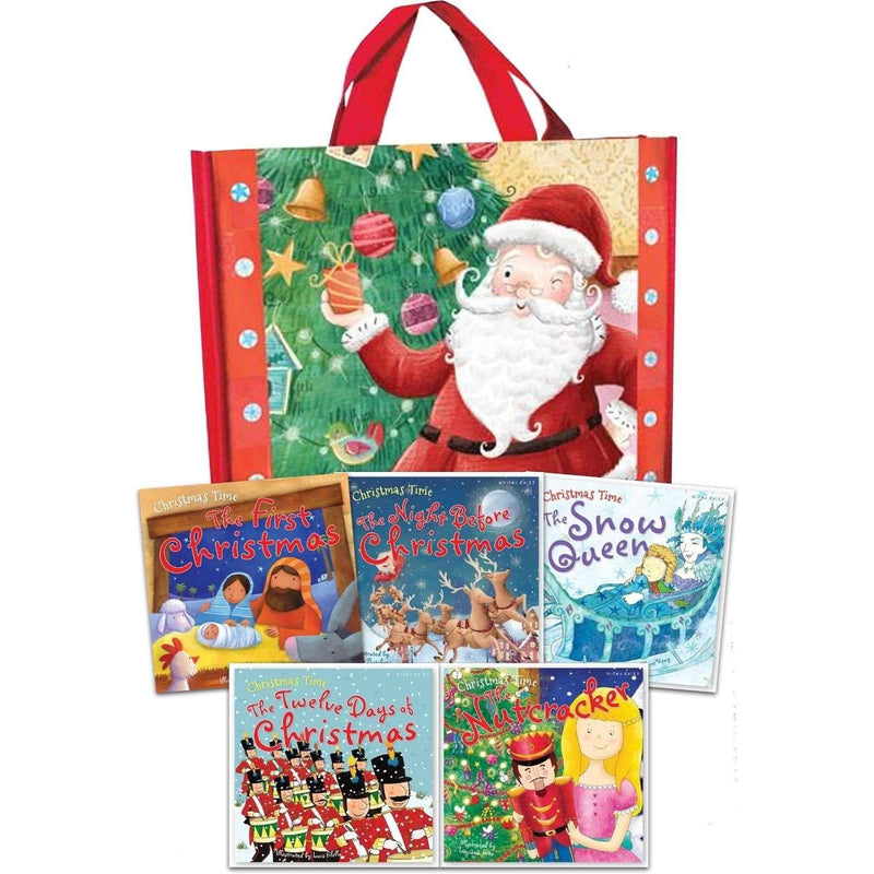 Christmas Time Collection 5 Books Set in a Bag Children Pack The Snow Queen