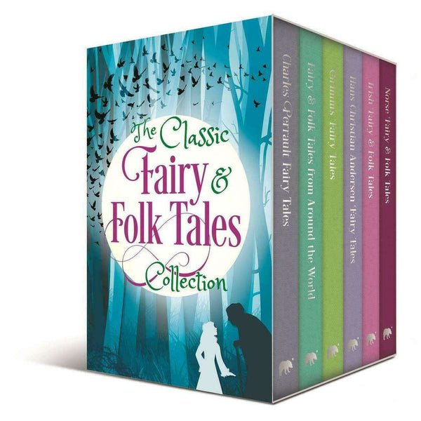 Classic Fairy and Folk Tales 6 Books Box Set Collection By Various Authors