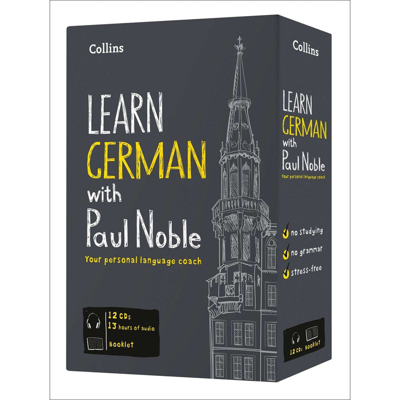Collins Learn German with Paul Noble Audio Book CD Booklet Collection Box Set