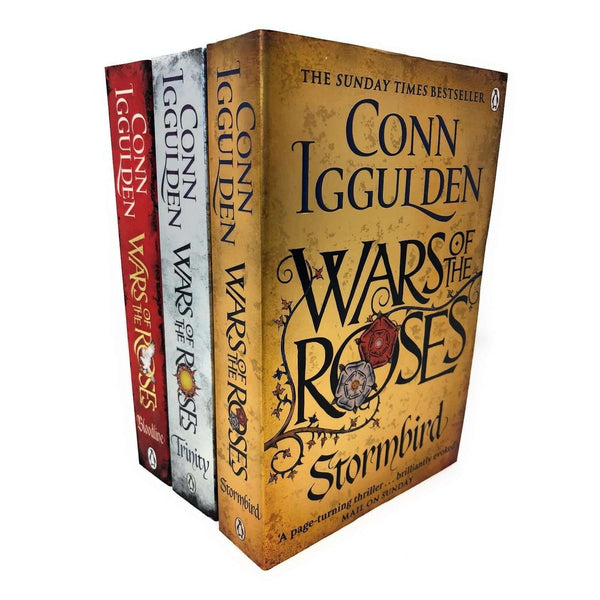 Conn Iggulden Wars Of The Roses 3 Books Set Collection, Stormbird, Trinity