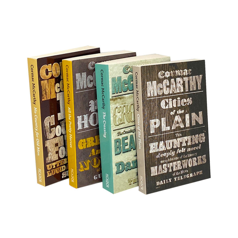 Cormac McCarthy 4 Books Collection Set Border Series All the Pretty Horses