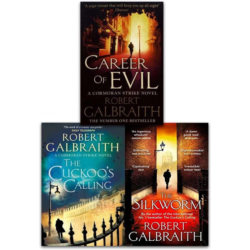 Cormoran Strike Series Robert Galbraith Collection 3 Books Set