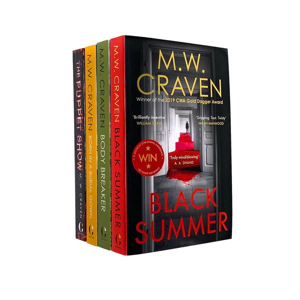 M W Craven 4 Books Collection Set Puppet Show, Body Breaker, Black Summer PB NEW