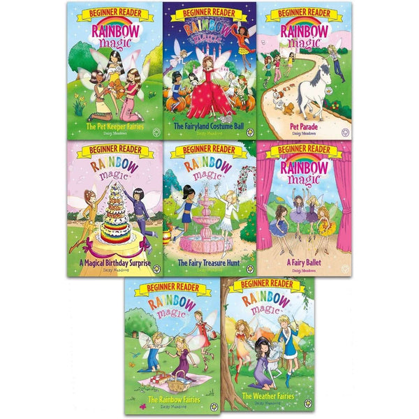 Daisy Meadows Rainbow Magic Beginner Reader Collection 8 Books Set Pet Keeper