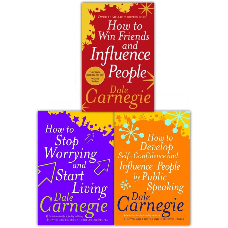 Dale Carnegie Personal Development Collection 3 Books Set How to Win Friends